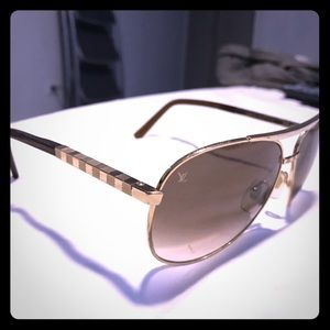 Louis Vuitton Sunglasses - Gold and Brown